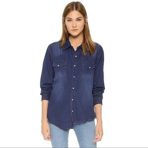 One Teaspoon Salted Indigo Liberty Denim Shirt XS